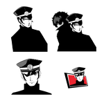 Persona 5: Raidou Kuzunoha the XIV Confidant Icons by witch-girl-pilar