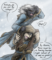 Lost in the Snow (SKYRIM) by CoffeeAddictedDragon