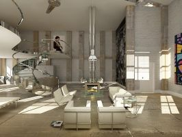 Loft Classic Ver 01 Living by thiagomarcondes