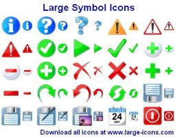 Large Symbol Icons by shockvideo