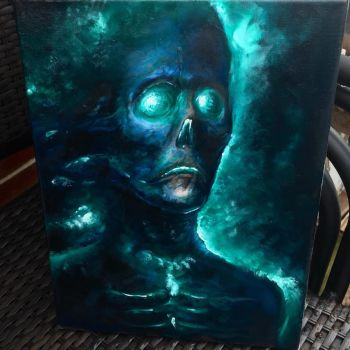 GLOW 9x12 oil on canvas  by zackdunn89