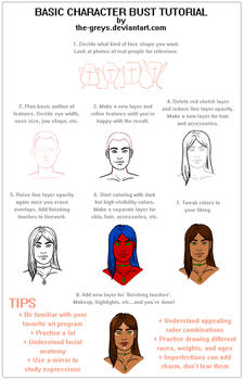 Basic Character Bust Tutorial by The-Greys