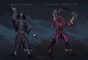 Commission: Ghost Face and Freddy Krueger Outfits by Hassly
