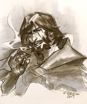 McCree Sketch by Yuroboros