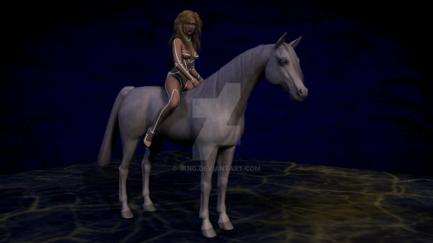 Taylor on Horse by 1KNG