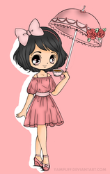 Umbrellagirl Colored by xLinaii