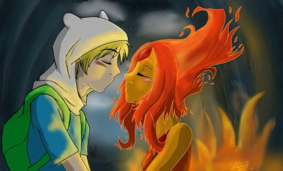 Finn-FlamePrincess by YoruNekoChi