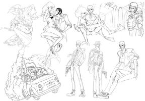 Lupin Sketches!! by Tako-DNA