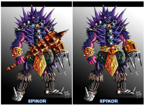 Spikor with mace by oICEMANo