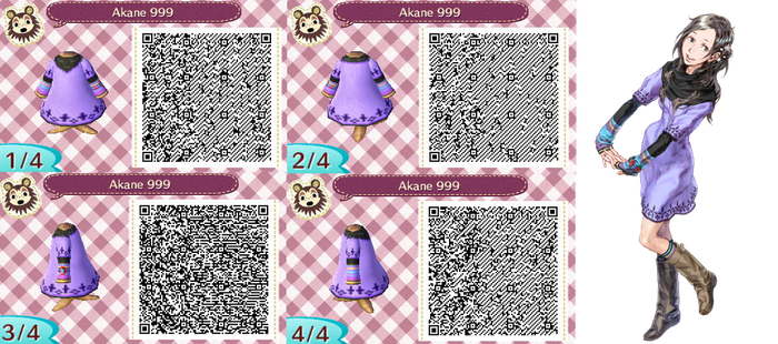 Akane/June 999 - ACNL QR by Lebasy