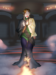 Comm - Tending the Flames (Fire Keeper TG) by KAIZA-TG