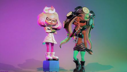 How to Talk to Tall People (Splatoon SFM Poster) by Johnny-Inkling
