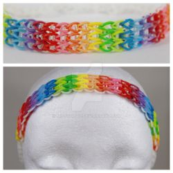 Triple Chain Rainbow Loom Headband by MissTopaz