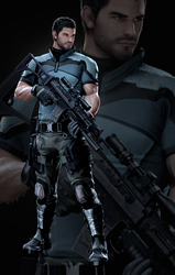 Vendetta Chris Redfield - Render by LitoPerezito
