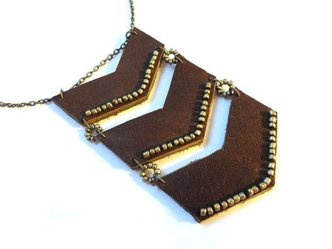 Chevron Necklace by i-am-enrooted