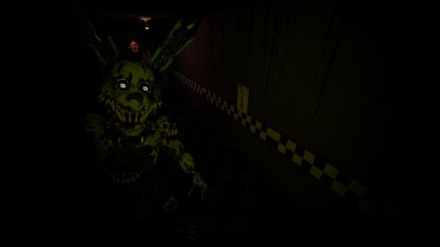 Nightmare Springtrap by awesomedragster