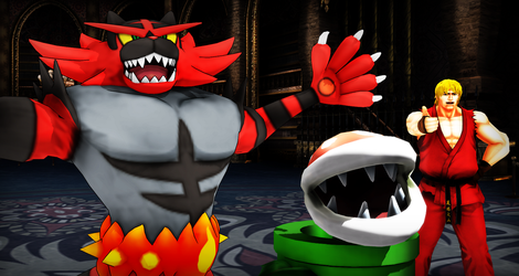 MMD Smash Bros: Fighters and..a Plant? by Mirai-Digi