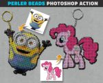 Perler Beads Photoshop Action by PsdDude