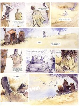 Watercolor comic page by DimMartin