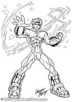 Solar Flair-Lineart by Boy-Meets-Hero