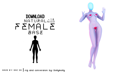 [MMD] Natural nude female Base (DL) [+18] by DollyMolly323
