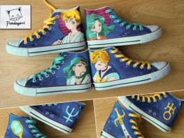 Zapatillas Sailor Moon / Sailor Moon custom kicks by Pandagorri