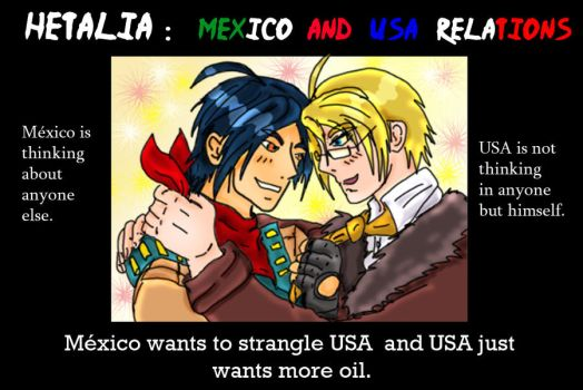 Hetalia Mexico and USA poster by chaos-dark-lord