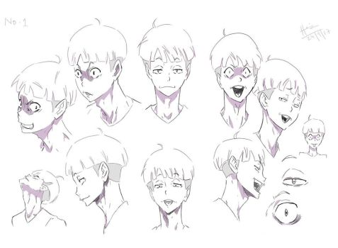No.1 Character Expressions by trazor29