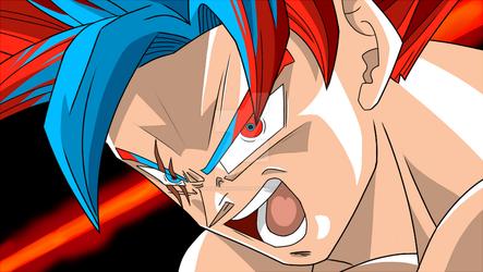 Goku God Fury by PainDemonoid