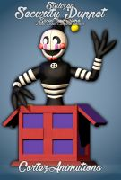 Stylized Security Puppet | FNAF 6 | .:Blender:. by CortezAnimations
