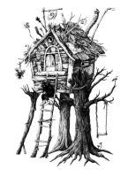 Treehouse and cocoa by Bakhareva