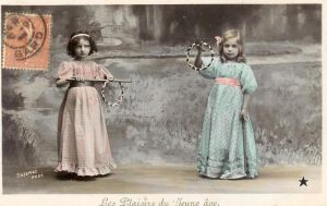 vintage postcard girls VI by MementoMori-stock