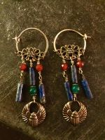 Classically-inspured Scarab Earrings by bluemont-vampire