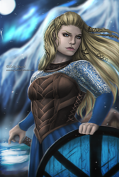 Lagertha: Vikings Fanart by Lady-Elizriel