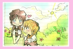 Sam and Frodo by IreIreIre