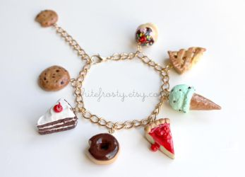 Assorted Mixed Desserts Bracelet by whitefrosty