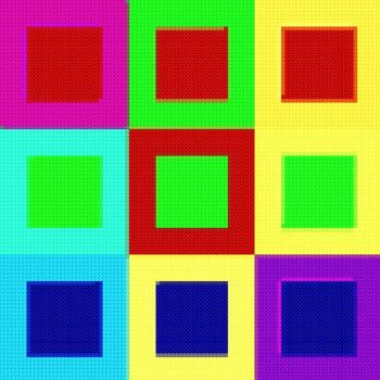 Pop Art Squares by Hraygurl
