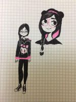 Pink and Black by Julithekawaiiloser