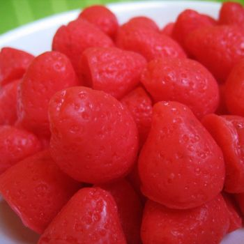 Strawberry Mini Soaps in Red by instantpudding