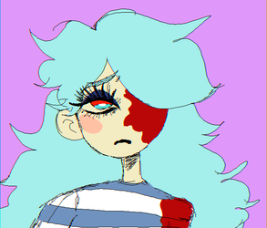 Art Trade: pomo(mspaint ver.) by sadpartyboy