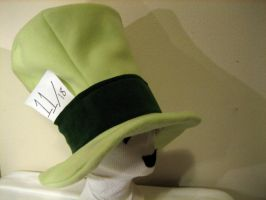 TOP HAT Green with Size Tag by tacksidermia