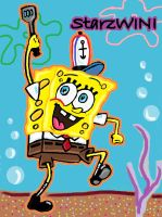 SpongeBob sketch 2 - Colour by StarzWINI