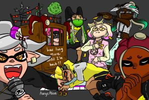 The Agents Play a Game of Monopoly (Splatoon 2) by AarysAlice