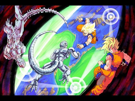 DBZ: Gokuu VS Coola (v2) by Risachantag