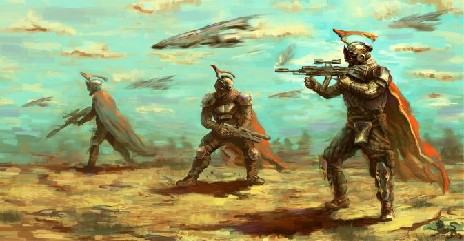 The Hoplite Assault by lupodirosso