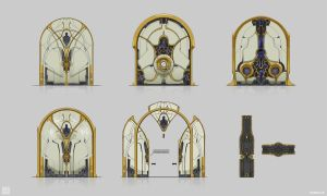 Warframe: Cetus Marketplace Door by SBigham