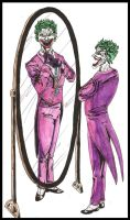 Joker in the ''mirror'' by MichaelLThomas