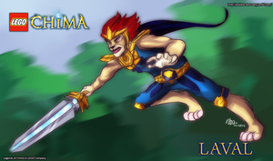 Legends of Chima: Laval by witch-girl-pilar