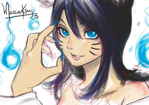 Ahri Doodle by Mkuchima