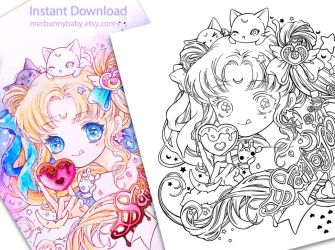 Sailor moon coloring page by tho-be